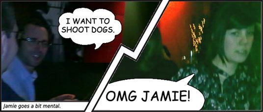 Jamie goes a bit mental.