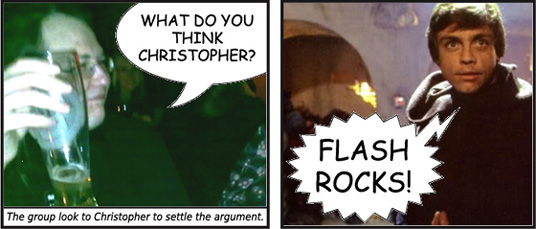 Flash rocks!