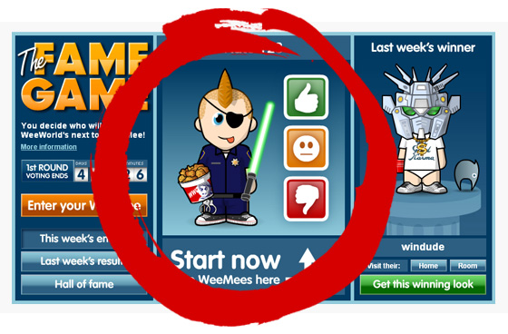 Fame Game mock-up