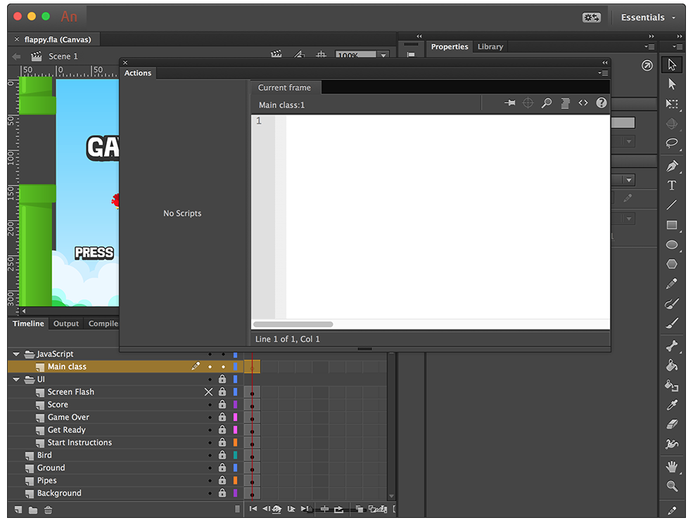 Part 3: Building a HTML5 Flappy Bird Game Clone with Adobe Animate